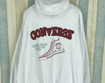 CONVERSE ALL STAR Homewear Sweatshirt Large Gray Vintage