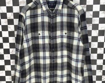 ca3fc6dcc Vintage Checkered Flannel XLarge 90's Plaid Checkered Tartan Grunge Hipster  Boyfriend Shirt Buttondown Oxfords Rebuild Flannel Size XL
