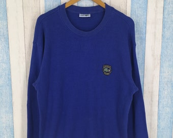6d2573bf860b CHEMISE LACOSTE Sweatshirts Unisex Large Blue Vintage 90s Chemise Lacoste  Club France Sportswear Lacoste Pullover Sweater Size L
