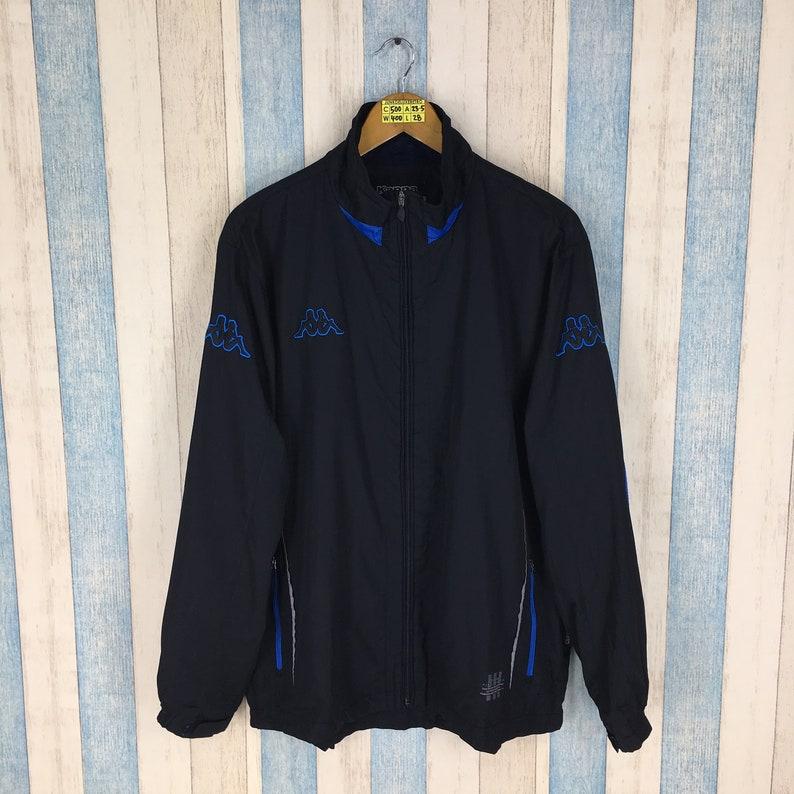 7f1adfecc3 Vintage KAPPA ITALIA Windbreaker Jacket XLarge Black Vintage | Etsy