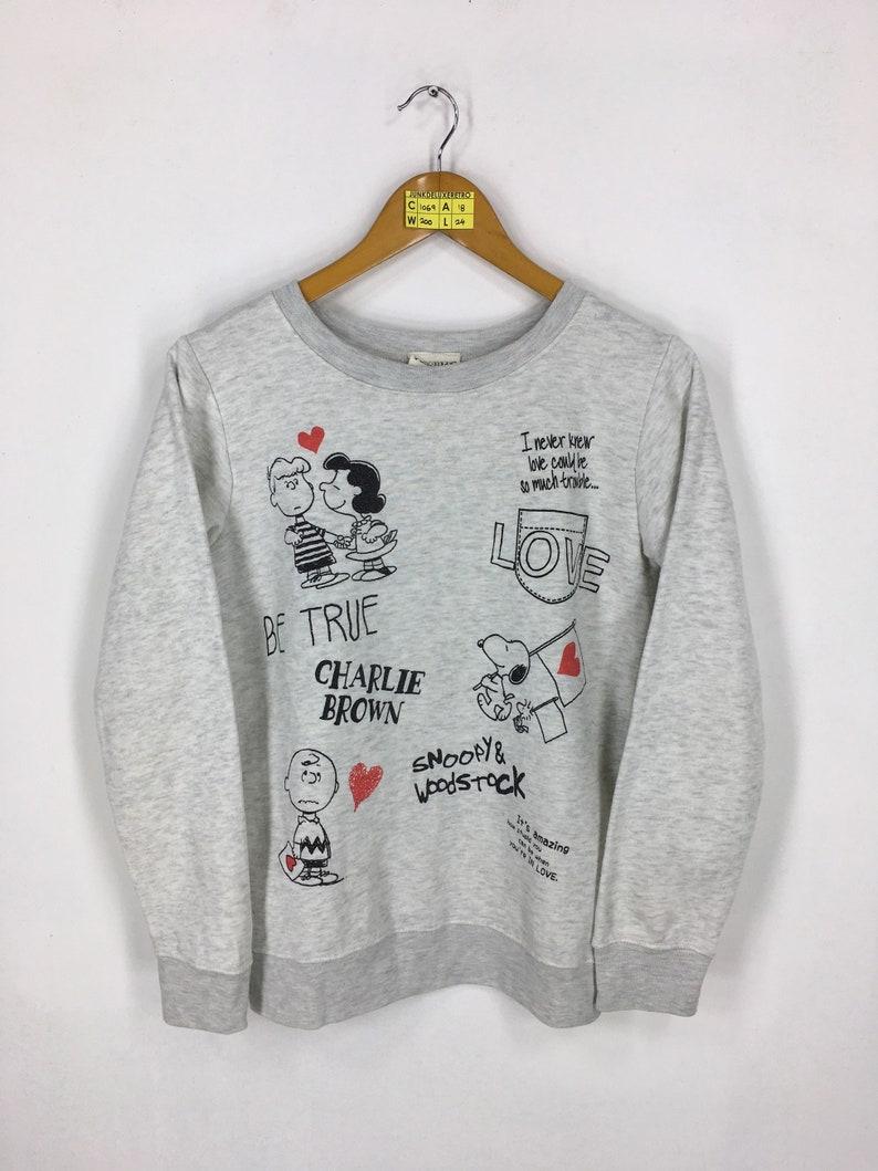 Vintage PEANUTS Sweater Small Ladies Snoopy Lovers Peanuts Comic Strip Cartoon Charlie Brown Pullover Snoopy Woodstock Sweatshirt Size S