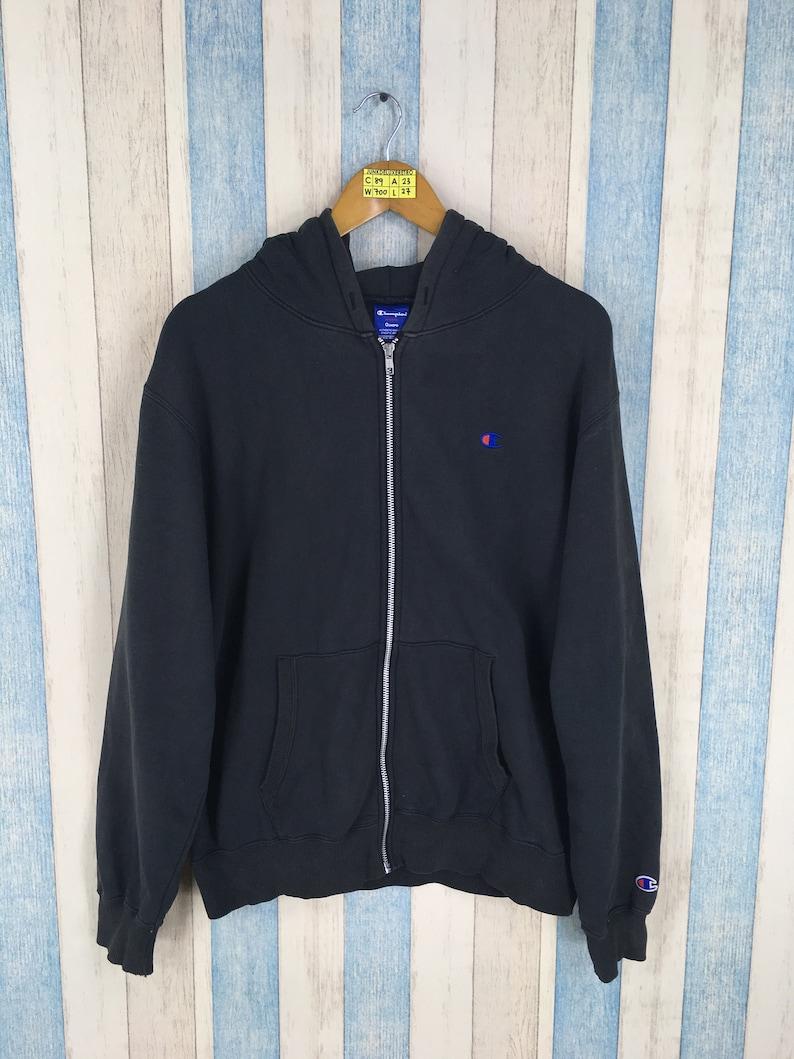 46801892219f CHAMPION SPORTSWEAR Hoodie Sweatshirt Medium Black Vintage