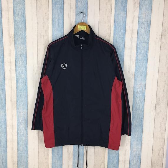 f7741ce7e5 Vintage NIKE WINDBREAKER Jacket Large 90s Nike Streetwear Trainer Black