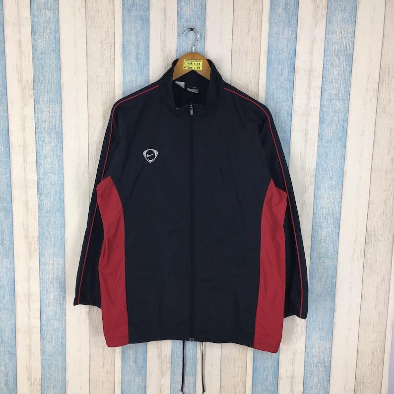 999d02c03 Vintage NIKE WINDBREAKER Jacket Large 90s Nike Streetwear Trainer Black/Red  Nike Swoosh Sportswear Nike Air Windrunner Trainer Size L