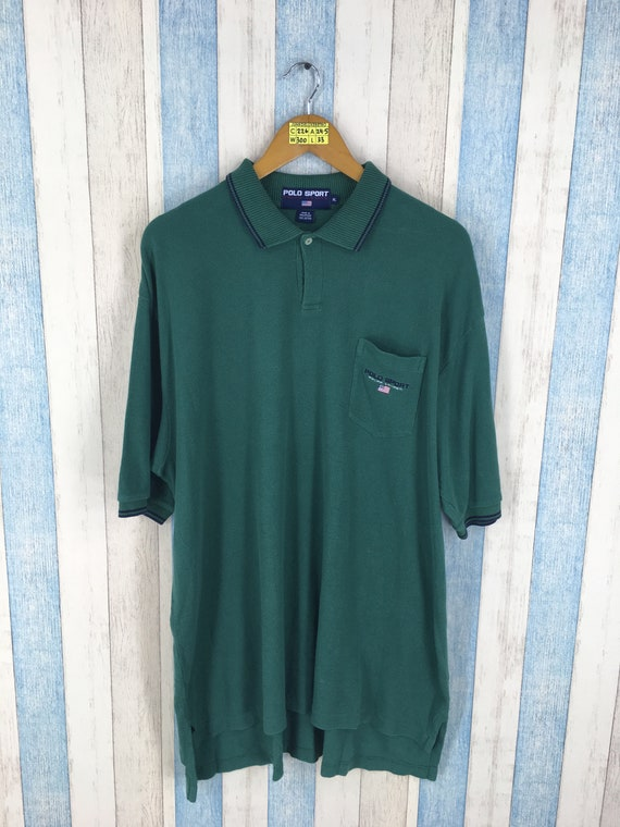POLO SPORT By Ralph Lauren Polo Shirt Unisex Xlarge Green Vintage 90's Polo  Sport Spell Out Polo Ralph Lauren Rugby Shirt Size Xl