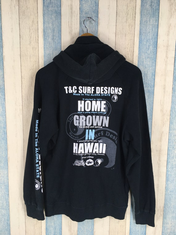 T C SURF Designs Sweatshirt Hoodie Medium Black Vintage  ee7bddf4e98