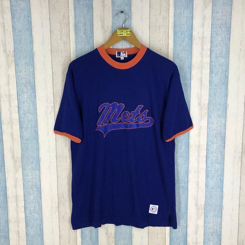 e8a05c4cb180 Vintage 90 s METS Baseball New York Tshirt Ringer Blue