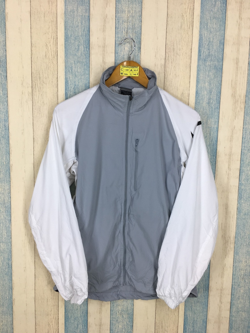 9cf052b2b NIKE Windbreaker Jacket Small Gray Vintage 90's Nike Track | Etsy