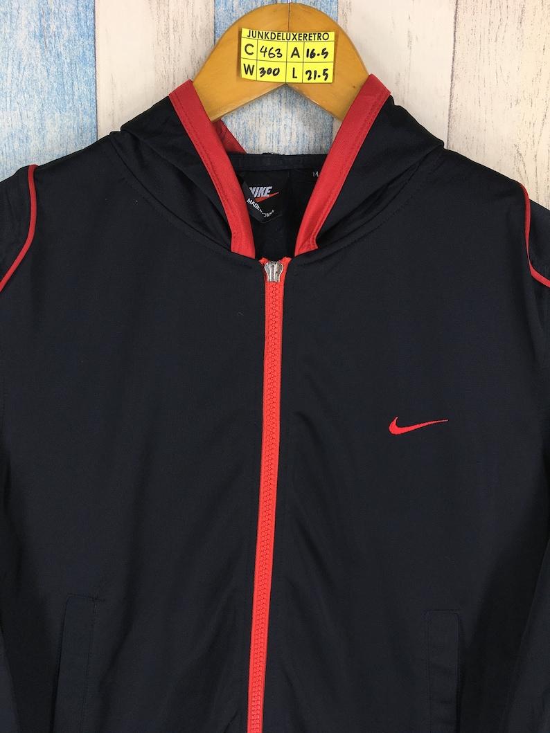 70b8d4241 NIKE Windbreaker Hoodie Jacket Teen XSmall Black Nike Track | Etsy