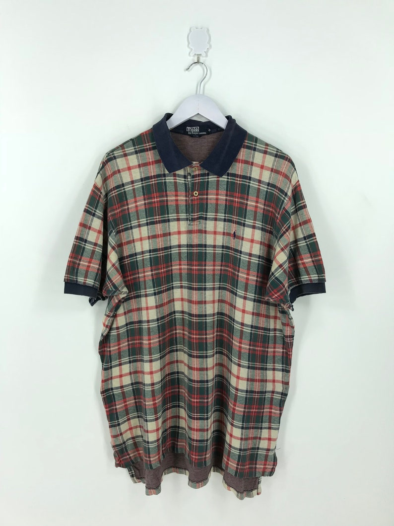 New Polo Ralph Lauren Pony Custom Gingham Stripe Button Shirt XL