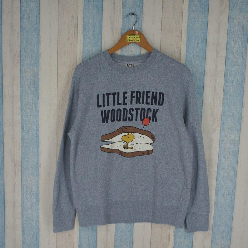 SNOOPY JOE COOL Sweater Medium Vintage 90s Snoopy Little Friend Woodstock Comic Strip Cartoon Pullover Snoopy Jumper Gray Sweatshirt Size M