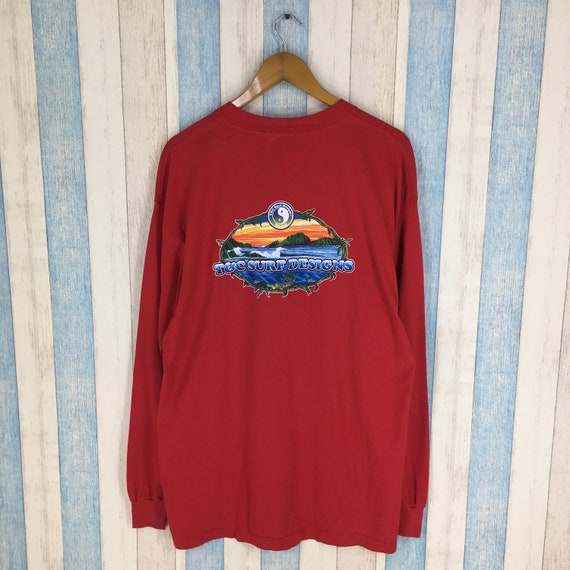 T C SURF Designs Surfer Red Large Jumper Sweatshirt Vintage  b228a8983cc