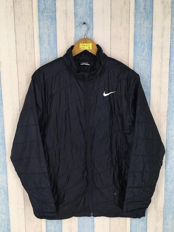 1e7173642b00 NIKE GOLF Windbreaker Jacket Large Black Vintage 90s Nike