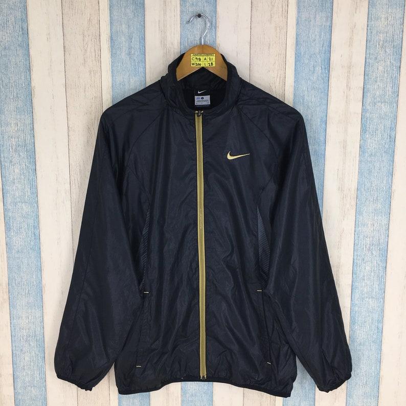 44bb289a0 Vintage 90's NIKE Windbreaker Jacket Small Black Nike | Etsy