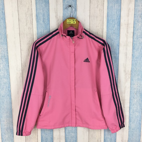 446596f242 ADIDAS Pink Windrunner Jacket Women Small Vintage 90 s