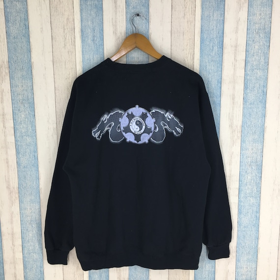 T C SURF Designs Unisex Large Black Jumper Sweatshirt Vintage  95120193cb8