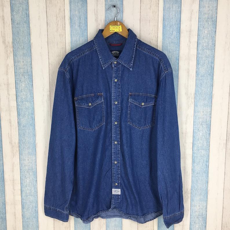 d69bbe0a LEVIS Strauss Denim Shirt Xlarge Vintage 90's Levis | Etsy