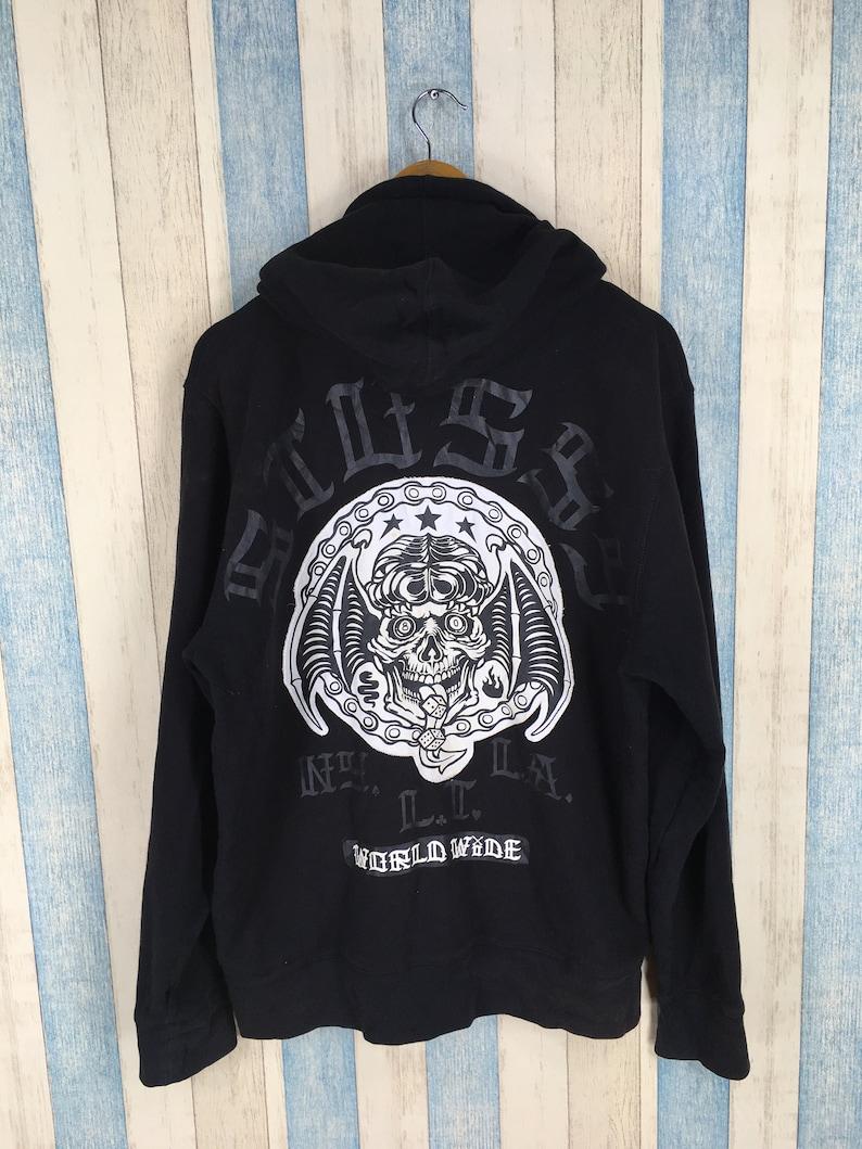 0e3b1afbd991 STUSSY Hoodie Sweater Large Vintage 90s Stussy Usa Bones