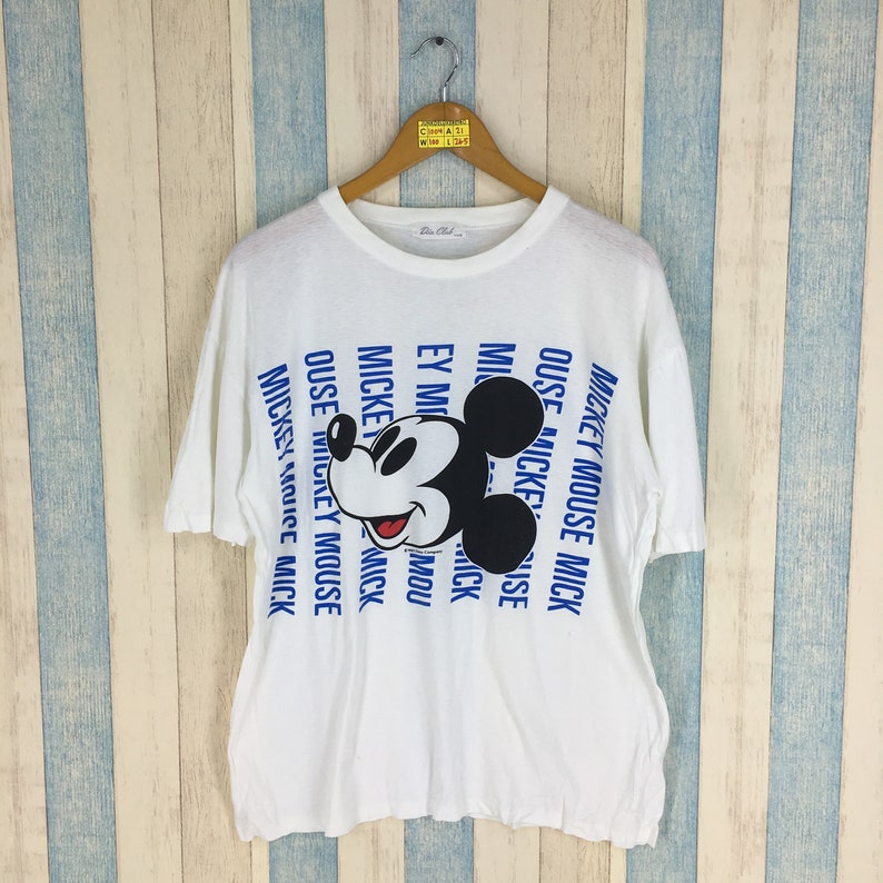 ee025c047 MICKEY MOUSE T Shirt Women Small Vintage 90's Mickey Mouse | Etsy