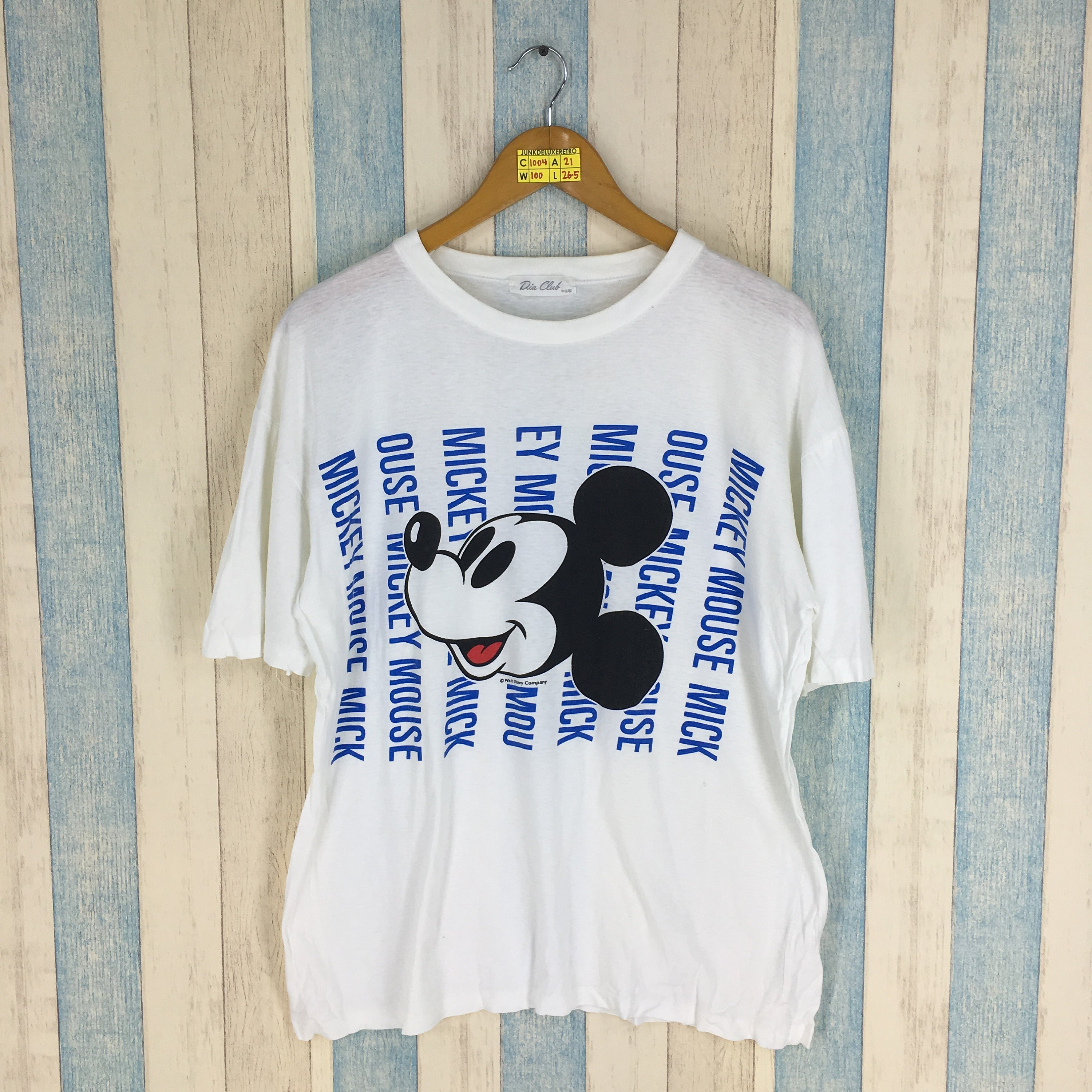 95d3c195c MICKEY MOUSE T Shirt Women Small Vintage 90's Mickey Mouse | Etsy