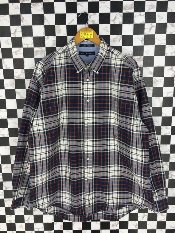 Vintage 1990's TOMMY Hilfiger Checkered Flannel Me