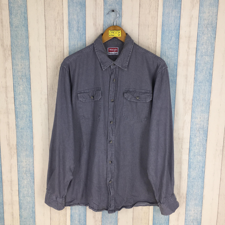 90's Denim Wrangler Shirt JeansEtsy Vintage Large BWxdCero