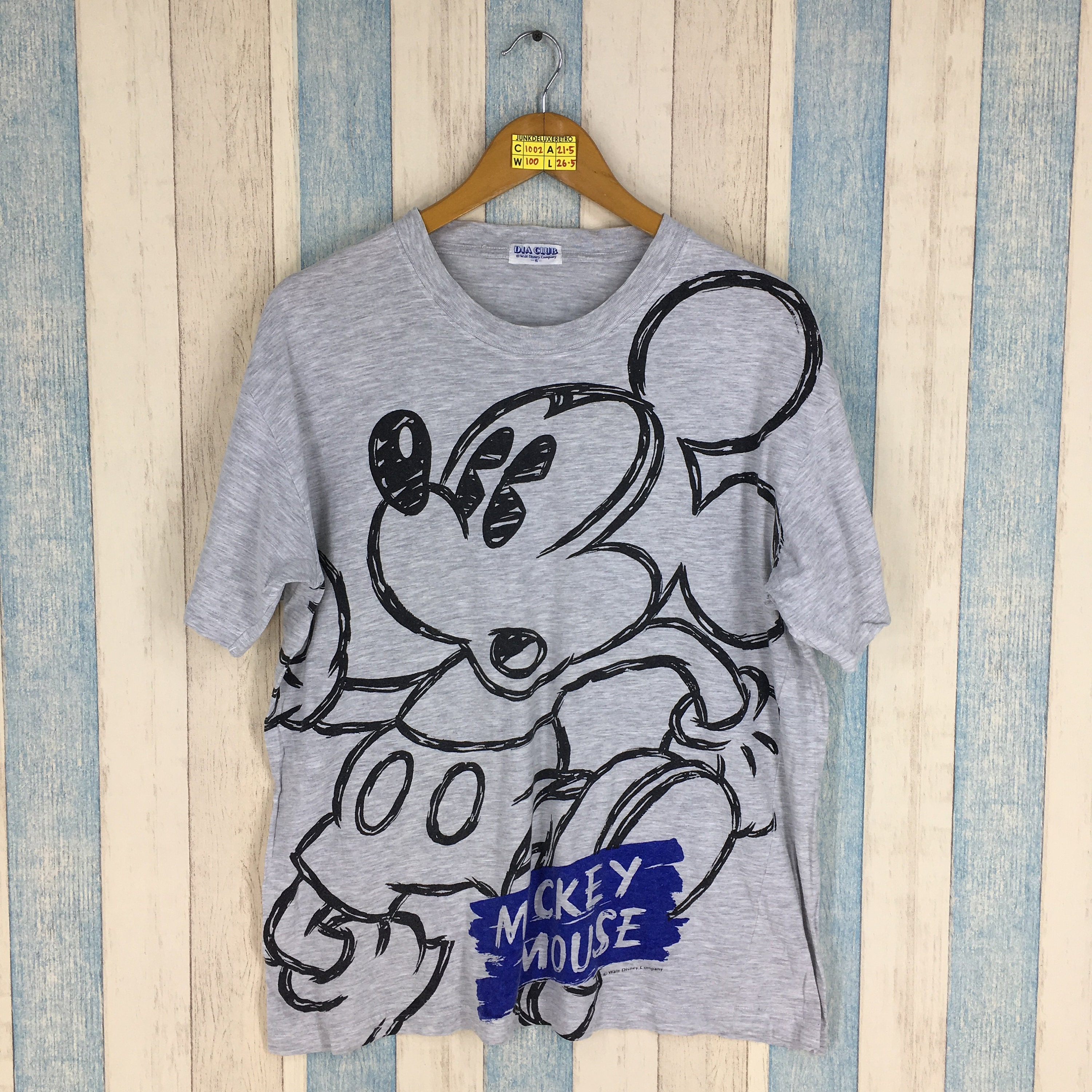 ae797cb57 MICKEY MOUSE T Shirt Women Small Vintage Mickey Mouse All Over | Etsy