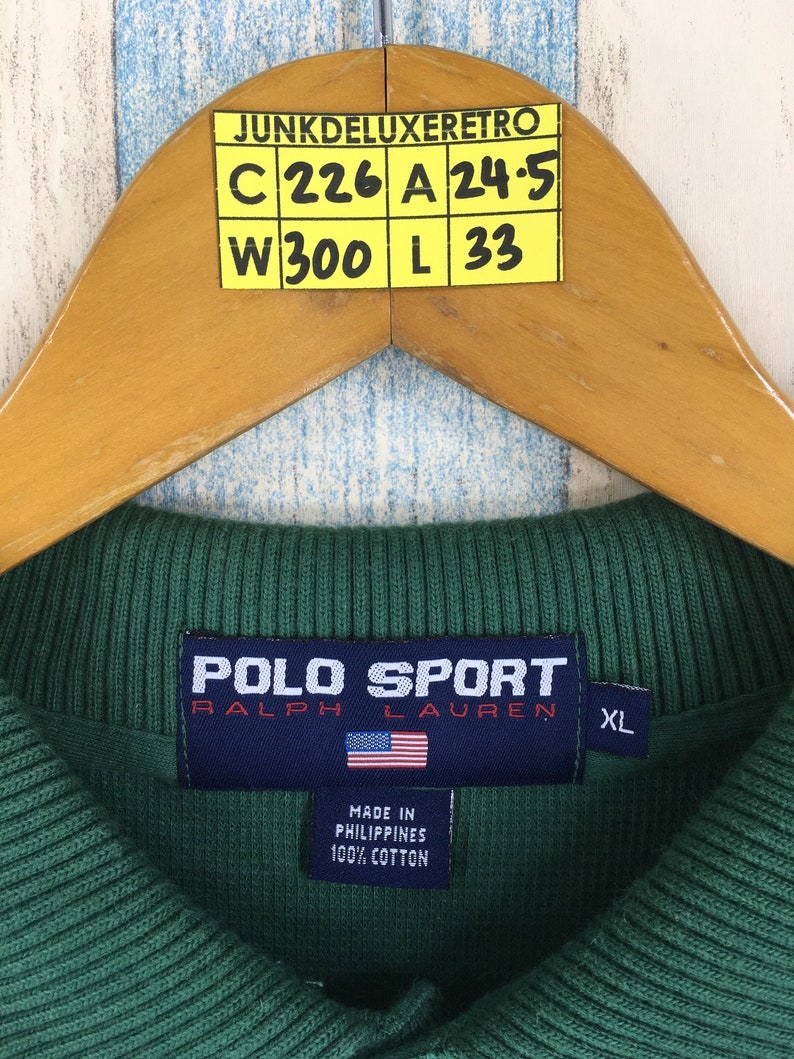 acfc70a2c36 POLO SPORT By Ralph Lauren Polo Shirt Unisex Xlarge Green | Etsy