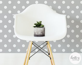 Polka Dot Removable Wallpaper / Traditional or Self adhesive wallpaper Z028