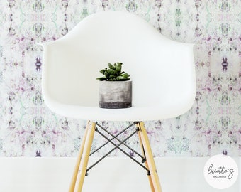Diamond Kaleidoscope Removable Wallpaper, Chic Nursery Wall Mural / Traditional or Self adhesive wallpaper L755