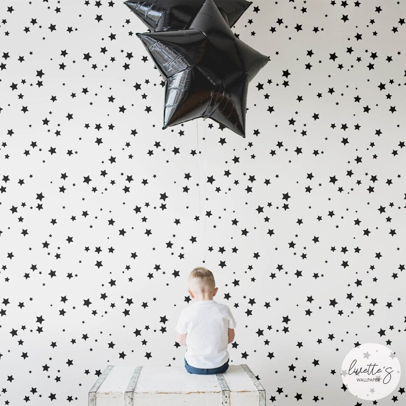 Wallpaper Baby Nursery Star Wall Print Wall decals Baby Boy Girl Peel and Stick