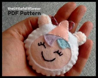 Girl Unicorn Felt Pattern, Unicorn Pattern Sewing,Unicorn Sewing Pattern PDF,Felt Pattern PDF,Christmas sewing pattern PDF