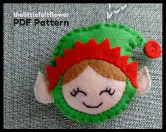 Elf Felt Pattern, Elf Pattern Sewing,Elf Sewing Pattern PDF,Felt Pattern PDF,Christmas sewing pattern PDF