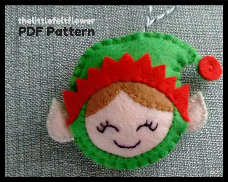 Elf Felt Pattern Elf Pattern SewingElf Sewing Pattern image 0