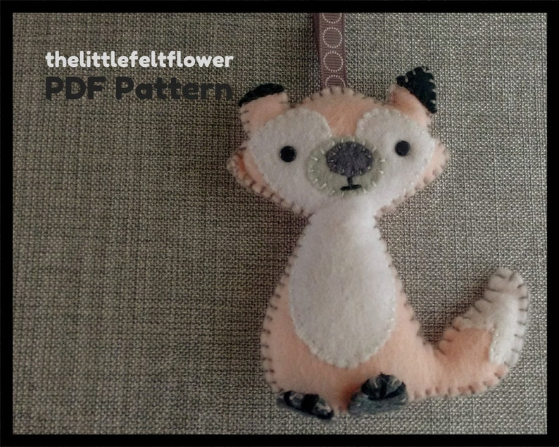 Felt Pattern-Felt-Woodland Fox Sewing Pattern Tutorial-Felt image 0