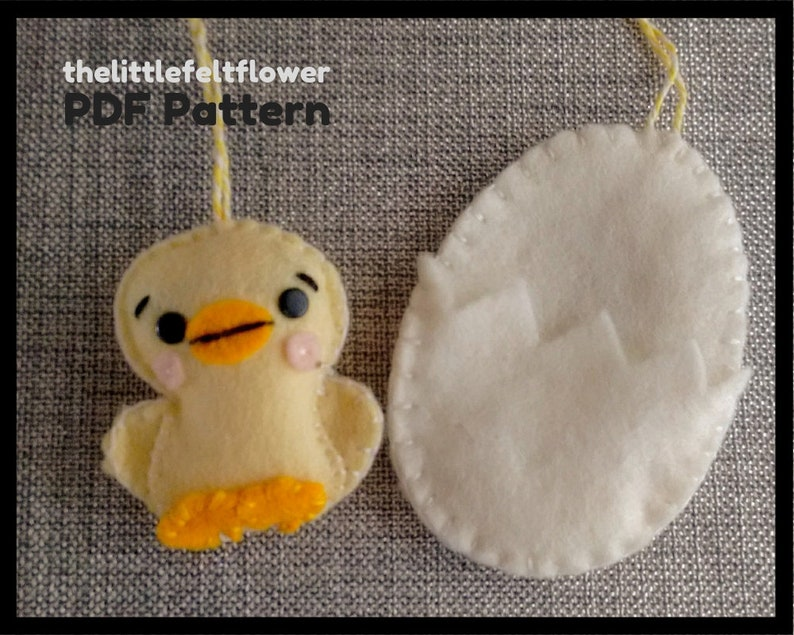 Felt Easter Chick Pattern Felt Easter Pattern-Chick Sewing image 0