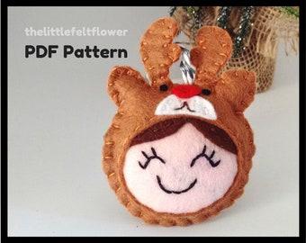 Reindeer Felt Pattern, Reindeer Pattern Sewing,Reindeer Sewing Pattern PDF,Felt Pattern PDF,Christmas sewing pattern PDF