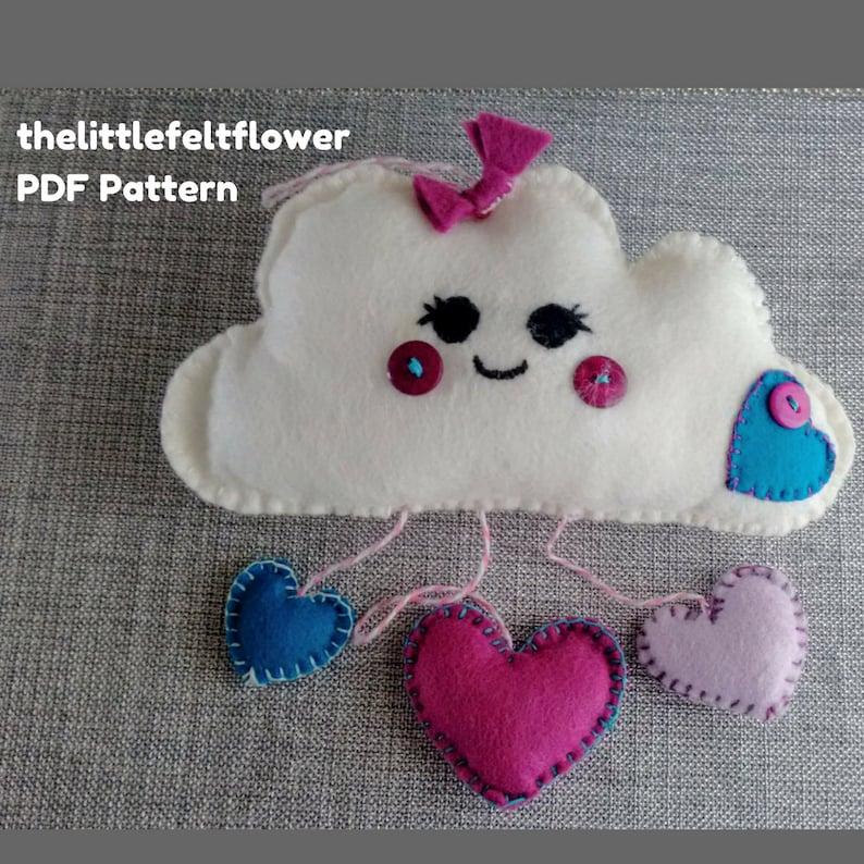 Felt Pattern-Felt-Cloud Pattern-Felt cloud decoration-Cloud image 0
