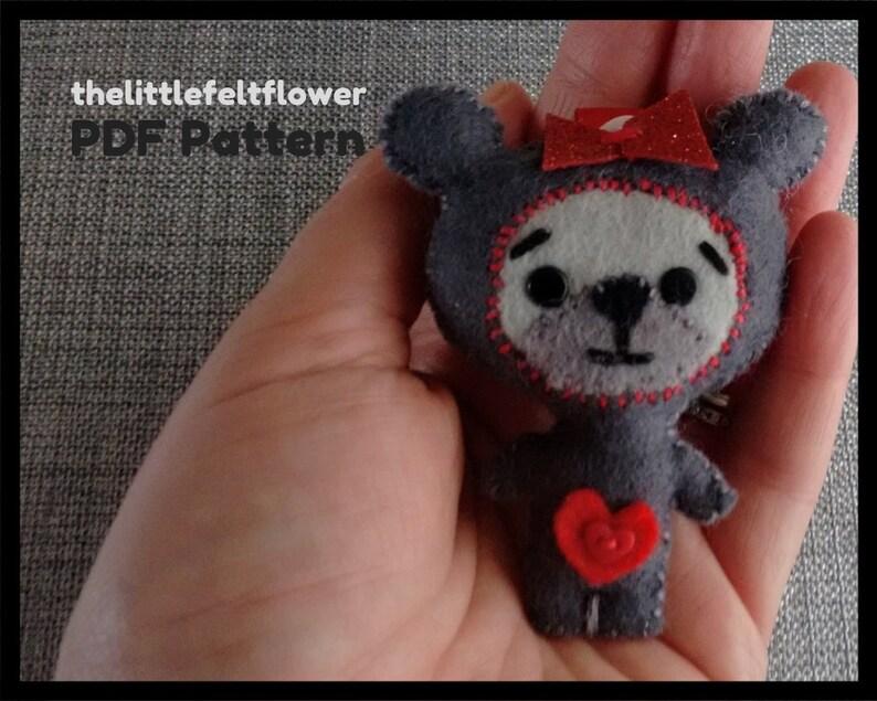 Teddy Bear Pattern-Valentine Bear-Bear Ornament-Bear Key image 0