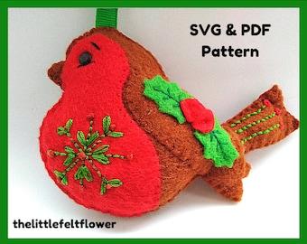 Felt Robin Pattern, Felt Robin PDF pattern, Robin Felt SVG Pattern Cricut, Robin, Felt pattern, Felt PDF pattern, Robin