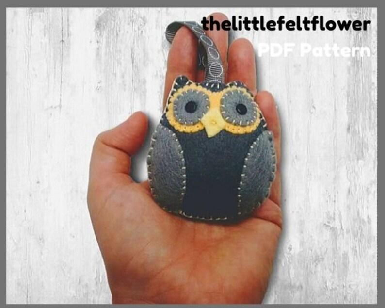 Felt Owl Pattern-Felt Pattern-Felt PDF Pattern-Decor-Felt image 0