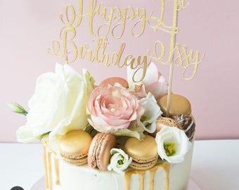 21st cake topper | Custom cake topper |  Birthday cake topper | 21 cake topper | Personalised cake topper | 21st birthday | Twenty One