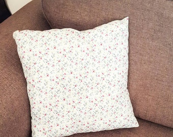 Country cottage scatter cushion,pale blue floral .country cottage style,cushion cover and insert. Matching print back and front, scatter,