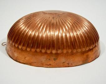 Vintage large copper gelatin mold