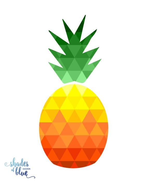 picture regarding Pineapple Printable identified as Geometric Pineapple Printable
