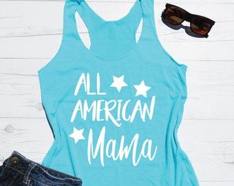 4th of July Tank Top | All American Mama Tank | Mom Tank | Fourth of July Tank Top | July 4th Mom Tank | American Mom Tank | Merica Tank