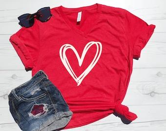 I Love Heart Northern Ireland V-Neck T-Shirt