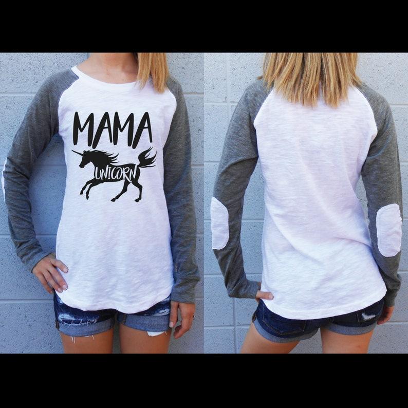 ad49ee9c Mama Unicorn Shirt / Mom Unicorn / Elbow Patch Shirt / Mom | Etsy