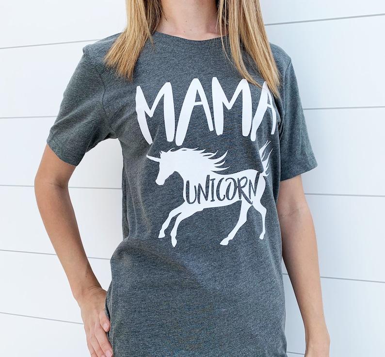 f2218aac Mama Unicorn Shirt / Mom Unicorn / Mom Unicorn T-Shirt / Mom | Etsy