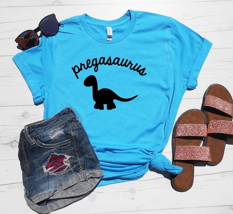940f7396 Pregasaurus Shirt Unisex Tee Pregnant Dinosaur T-Shirt | Etsy